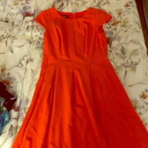 Orange Alyx fit and flare